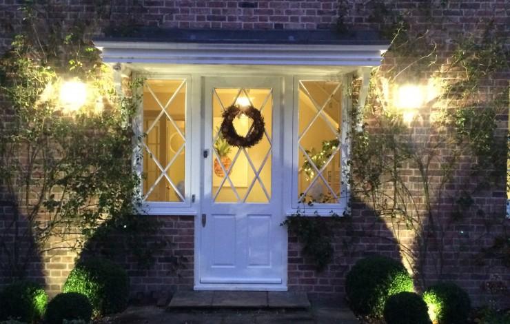 Lighting design for Christmas Front doors