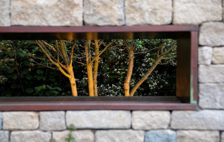 Lighting Design created for award winning Helen Elks Smith - Warner's Gin Show garden at RHS Chelsea 2019