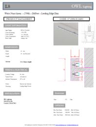 OWL Lighting product sheet